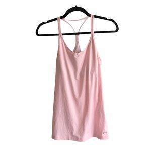 UNDER ARMOUR Heatgear T-Back Solid Tank Top Pink M